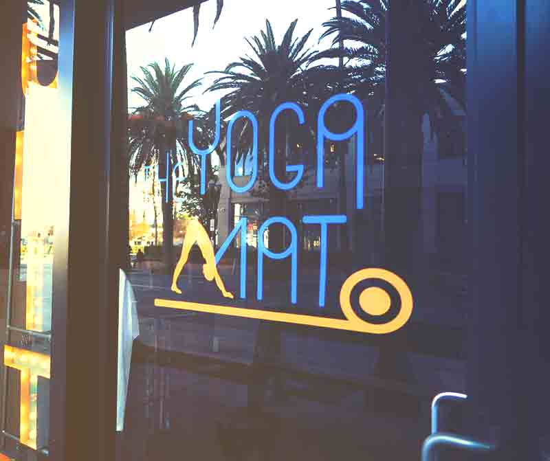 Front exterior of the Yoga Mat Studio in Center City Anaheim.