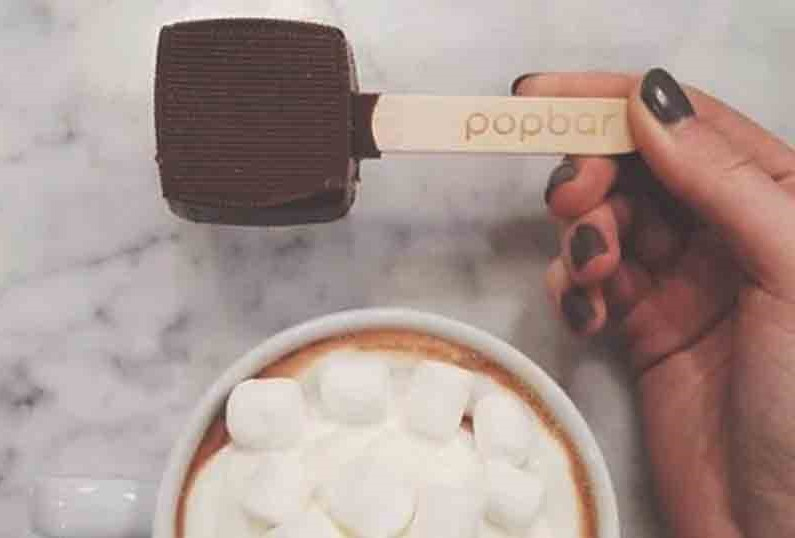 Popbar hot chocolate on a stick