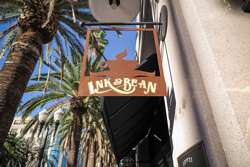 Ink and Bean cafe in Center City Anaheim.